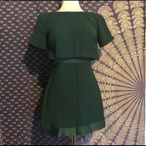 Topshop green mini dress PETITE